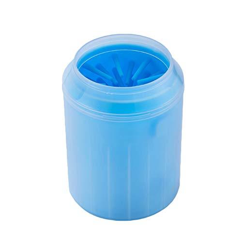 HONGBI Hunde Pfote Reiniger,Pfotenreiniger Pet Reinigung Pinsel Tasse Hundepfote Reiniger Fuß Reinigungsbürste Fuß Waschen Tasse Für Haustiere Blau M