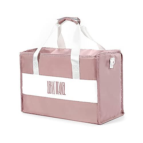 LCAWEI Bolsa de viaje para mujer (S, 20L, M, 26.4L, L, 35.9L) – Bolsa de gran capacidad para mujer, bolsa de viaje impermeable, bolsa de viaje durante la noche para niñas de viaje, Pink, L,