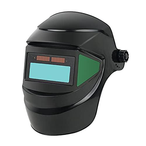 LOVIVER Casco de Soldadura con Oscurecimiento Automático de Gran Vista Gorra de Soldador Ajustable Gafas de Sombra