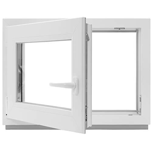 Kellerfenster - Kunststoff - Fenster - weiß - BxH: 55 x 40 cm - DIN rechts - 2-fach-Verglasung - Lagerware