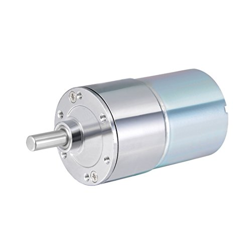 uxcell 12V DC 300 RPM Gear Motor High Torque Electric Reduction Gearbox Eccentric Output D Shaft