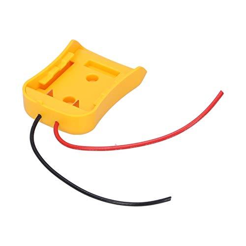 SALALIS Adaptador de Montaje de batería Adaptador de batería para Dewalt ABS 20V / 18V DCB Conector de alimentación de batería Conector de Montaje