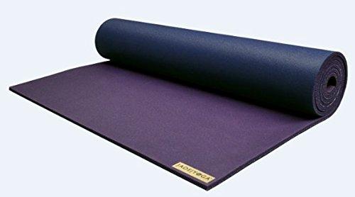 "Jade Yoga Jade Fusion XW Yoga Mat (5/16"" x 28"" Wide x 80"" Long) Two-Toned Midnight/Purple"