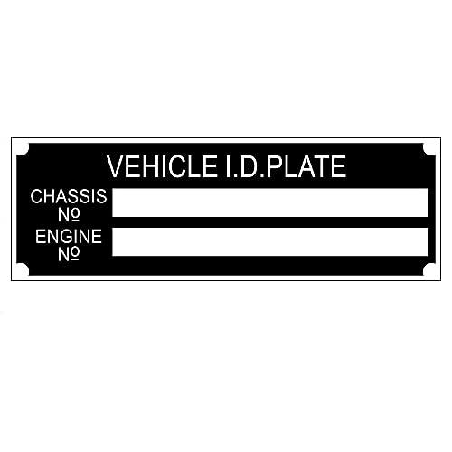 Beyondcity Planta de identificación del vehículo del remolque de las placas del chasis del Vin del coche de la