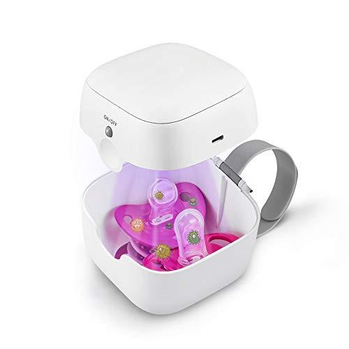 Mini UV Sterilisator Desinfectie Doos, Draagbaar 59S Ultraviolet licht Sterilisatie Machine, Elektrisch Tandenborstel Hoofden Steriliseren Gereedschap, Doden Ziektekiemen voor Fopspeen,White