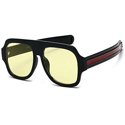 SHEEN KELLY Premium zonnebril, groot formaat, voor dames en heren, vlak oppervlak, vierkant frame, luxueus