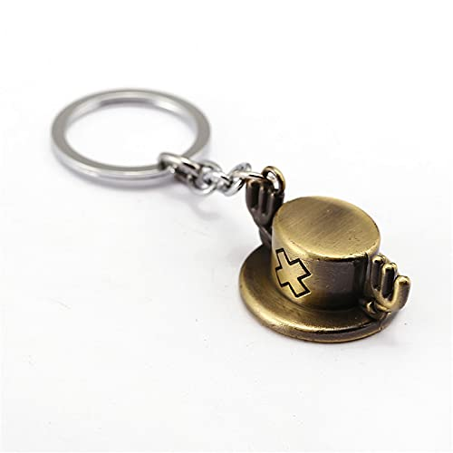 XY Exquisite keychain HSIC 2 Colors One Piece Keychain Chopper Hat Anime Key Ring Holder Chaveiro Key Chain For Car Cosplay Accessories HC12145 Keychain (Color : Gold keychain)