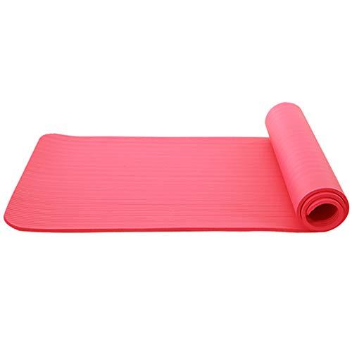 Esterilla de yoga NBR Manta antideslizante ecológica Fitness Ejercicio Mat Gimnasio Casa perder peso Fitness Equipo deportivo (rojo)