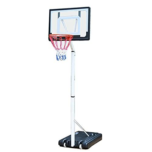 ZXQZ Aro Y Soporte de Baloncesto, Juego de Aro de Baloncesto Ajustable En Altura Portátil Independiente con Ruedas, para Dormitorio Interior Al Aire Libre
