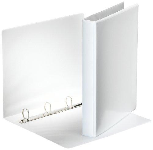 Esselte 49702 Ringbuch Präsentation, mit Taschen, A4, PP, 4 Ringe, 25 mm, weiss