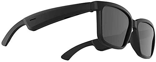 XUERUIGANG Bluetooth Smart Audio Sunglasses - Gafas de Sol inalámbricas Bluetooth Open Ear Music y Llamadas de Manos Libres, para Hombres y Mujeres (Color: Negro)