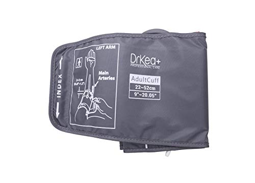 """Blood Pressure Upper Arm Large Cuff Strap - Use with BP Monitors by DrKea - Automatic Blood Pressure Cuff for Extra Large Arm - Arm Cuff Strap only - BP Machine not Included (K900 Pro, 9~20.5"""")"""