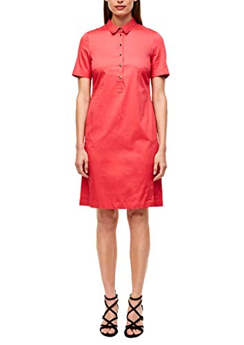 s.Oliver BLACK LABEL Damen Leichtes Hemdblusenkleid Coral 42
