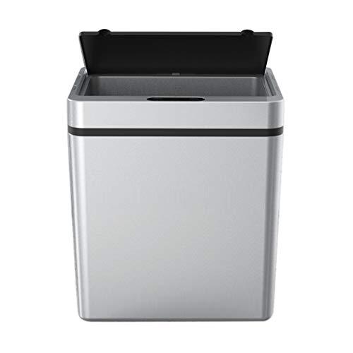XIANGBEI Cubo de basura inteligente de inducción con sensor automático infrarrojo, cubo de basura de gran apertura para cocina y baño