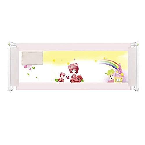 Bettgitter RQ Bettzaun Baby Fallschutzzaun Einseitiger Vertikalaufzug Faltbar (Color : White, Size : L-150cm)