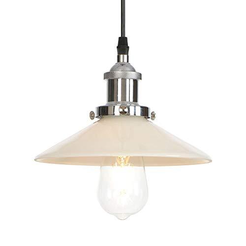 Hanglamp van glas, eetkamer, hanglamp voor bar, café, keuken, woonkamer, losse hanglamp
