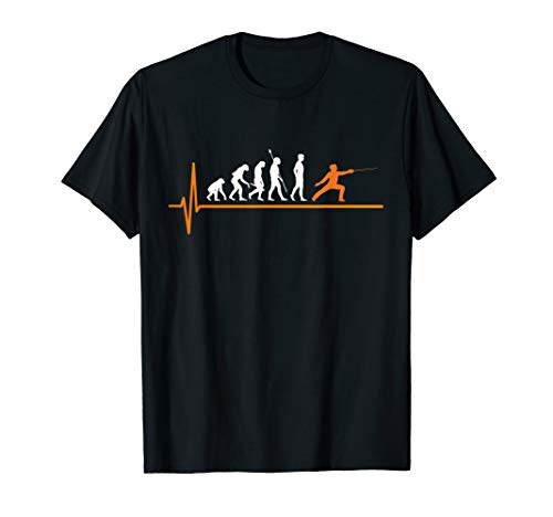 Fechten Degen Evolution Fechter T-Shirt