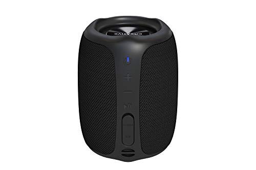 CREATIVE Muvo Play Altavoz Portátil Bluetooth 5.0, IPX7 Impermeable para Exteriores, hasta 10 Horas de duración de la batería, con Siri y Google Assistant (Negro)