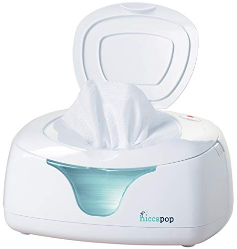 hiccapop Baby Wipe Warmer and Baby Wet Wipes Dispenser | Baby Wipes Warmer for Babies | Diaper Wipe Warmer with Changing Light