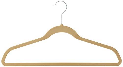 Whitmor Flocked Suit Hangers Set of 15 Beige