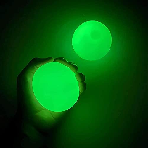 TIANLE Bolas pegajosas del Cubo, 4 unids Que Brillan intensamente en la Oscuridad para el Techo, Las Bolas pegajosas de los Globos se atascaron en el Techo, para niños y Adultos