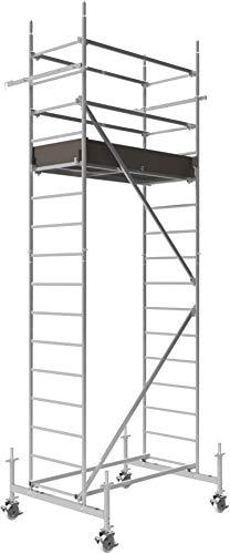 ALTEC Rollfix 500, Arbeitshöhe 5 m neu, inkl. höhenverstellbarer Rollen (Ø 150 mm), Fahrtraverse und Wandanker, TÜV-geprüft,