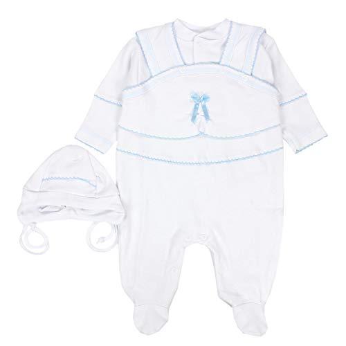 TupTam Unisex Baby Taufbekleidung 3-TLG. Set, Farbe: Weiß/Junge, Größe: 68