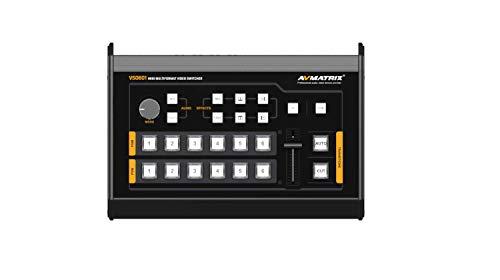 AVMATRIX VS0601 4×SDI and 2×HDMI inputs Mini 6CH SDI/HDMI Multi-Format Video Switcher with GPIO Interface for Live Tally System