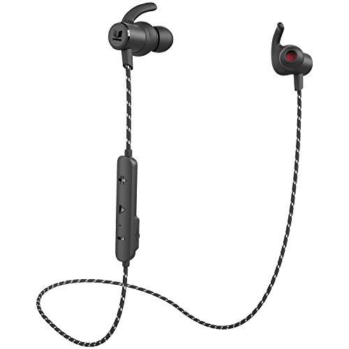 ワイヤレスイヤホン ears Bluetoothイヤホン bluetooth5.0 技適認証 ipx6防水防塵 高音質 重低音 HIFI 左右一体型 スポーツ ランニング仕様 カナル型 高遮音性 CVC6.0ノイズキャンセリング MEMSマイク クリア通話 メタル ブルートゥースイヤホンiPhoneなど多機種対応 (黒)