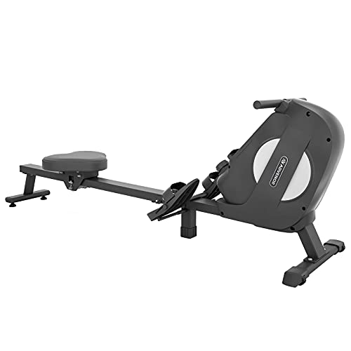 ADVENOR Magnetic Rowing Machine Foldable Rower with LCD Monitor,Device Holder for Home Use (Renewed)