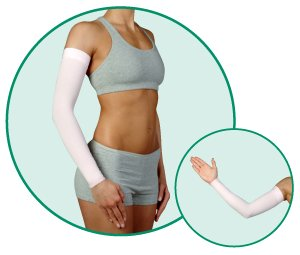 Juzo Soft 2002CG DreamSleeve 30-40mmHg w/ Silicone Top Band Model: 2002CG - STANDARD, Size: II - Small, Length: R-Regular, Color: Pink 43