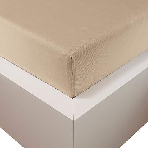 Traumschloss Edel-Jersey Spannbetttuch Premium Plus | Creme | Mako Baumwolle mit Lyocell & Elasthan | Bettlaken wärmt im Winter & kühlt im Sommer | hautsympatisch | 140-160 cm x 200-220 cm