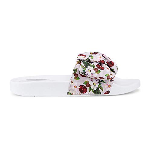 Another A Damen Trend-Pantolette, lässige Slip-On?s in Rosa mit frechem Kirschblüten-Design  Rosa Textil 40