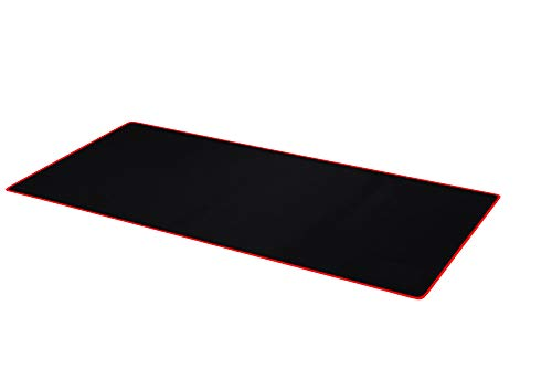 Ruifengsheng Extended Gaming Mouse Pad XXL Mouse Mat Large Mouse Pad Non-Slip Professional Precision Tracking Surface (35.4' x 15.7') 90x40 (90x40 Black Red)