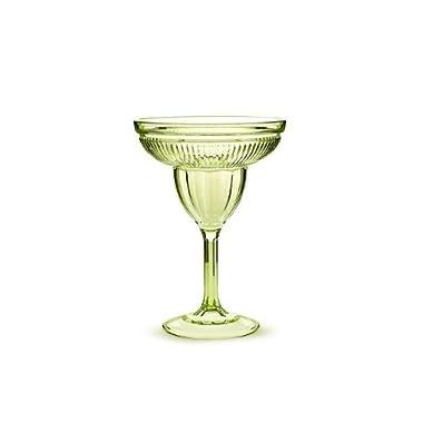 Abbott Acrylic Margarita Glasses Set, Green, (Pack of 6)