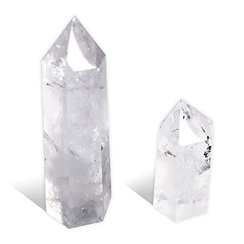 hibikurasu クリスタル 六角柱 3mm 5mm 浄化セット 水晶 天然石 クラスター パワーストーン クォーツ 浄化 インテリア(水晶:六角柱3mm / 5mm)