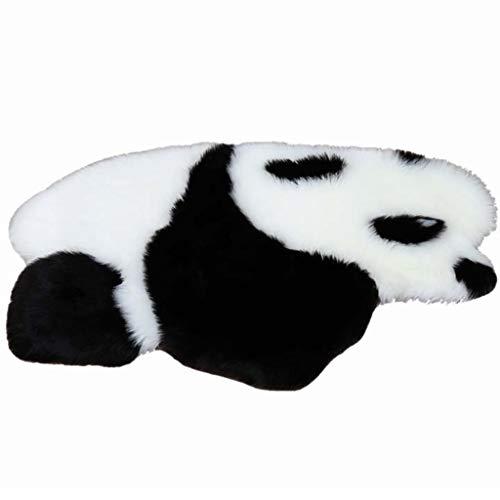 YUESFZ Alfombras moquetas Alfombra De Felpa con Forma De Panda Chino, Exquisita Manta De Noche De Animales para Dormitorio, Cojín De Silla De Dibujos Animados para Estudio De Sala