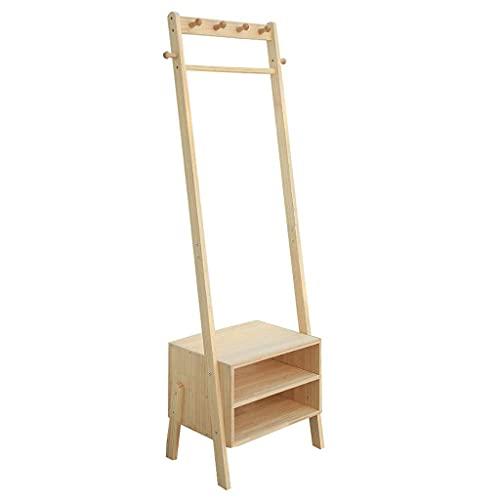 Perchero de madera sólida piso exterior cubierta y gabinete doble dormitorio puerta creativa multifunción percha muebles