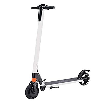 Highpot_Home Kids/Adult Folding Electric Scooter, 3 Speed Up to 25 MPH 15.5 Miles Portable Folding Commuting Scooter with Double Braking System (White)