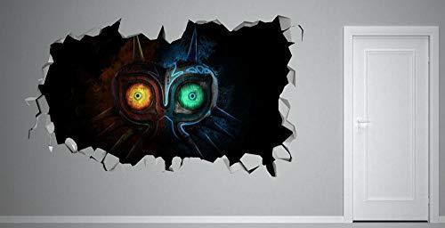Pegatinas de pared Eye Movie View Smashing Wall Decal Sticker Vinilo Mural decorativo Nintendo