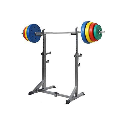US Fast Shipment Professional Barbell Rack,660Lbs Heavy Duty Weight Stand Parallel Bar Squat Rack for Home Gym Sport,Adjustable Height Bench Press Rack Weight Lifting Stand