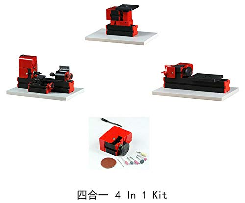 Best Bargain ZHOUYU 24W 4 in 1 Mini Multi-functional Machine Kit DIY Power Tool Woodworking Hobby Mo...