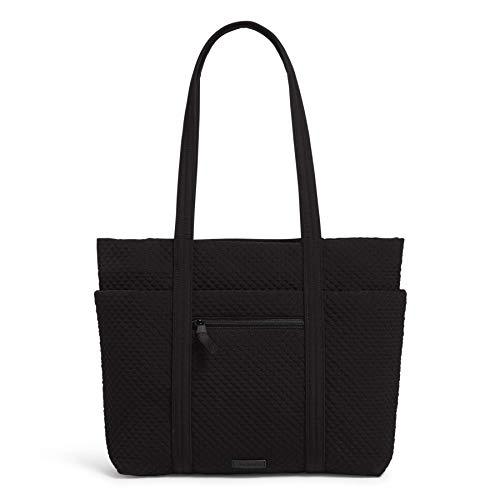 Vera Bradley Microfiber Deluxe Vera Tote Bag, Black