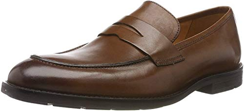 Clarks Ronnie Step, Mocassini Uomo, Marrone British Tan Lea, 43 EU