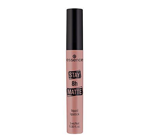 essence STAY 8h MATTE liquid lipstick, Lippenstift, Nr. 02 Duck Face, nude, mattierend, schnelltrocknend, langanhaltend, matt, intensiv, farbintensiv, vegan, ohne Alkohol, ohne Parabene (3ml)