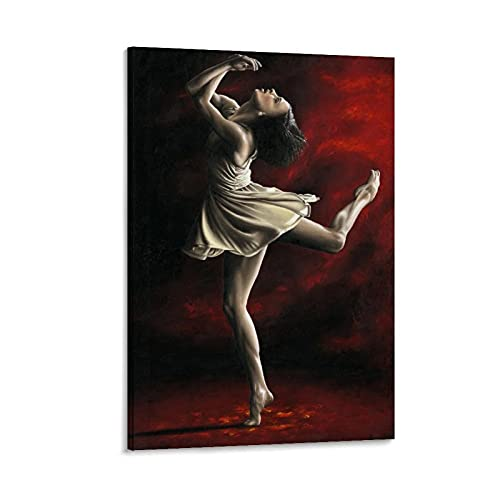 Póster decorativo de ballet con bailarina y despertar emocional, 30 x 45 cm