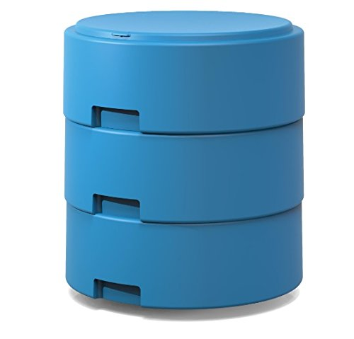Smith System Cerulean Blue Oodle Stool w/One Movement Disc w/Felt Pad Adjustable Height Classroom Active Seating for Kids, Teens and Teachers