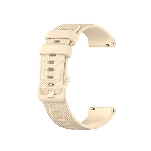 Smart Watch Band Strap Muñequera para Huawei Watch GT 2 42mm 46mm 20 / 22mm Correa para Honor Watch Magic para Polar Vantage M Pulsera (Color : Light Yellow, Size : For GT 2 46mm)