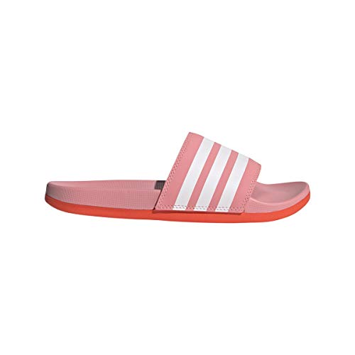 adidas Adilette Comfort, Chanclas Mujer, SUPPOP/FTWBLA/Rojsol, 40 2/3 EU