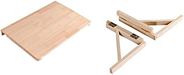 Wall Mounted Drop Leaf Table, Folding Kitchen Simple Dining Table, Solid Wood Office Study Desk, Laptop Desk,80 * 50cm
